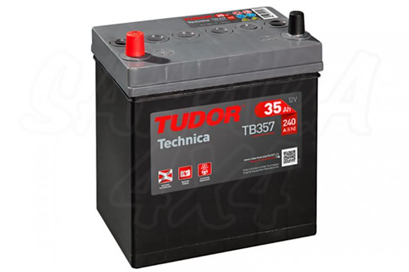 Bateria TUDOR Technica TB357 35 AH , Positivo Izquierda - LONGITUD: 187 MM ANCHO: 127 MM ALTURA: 220 MM