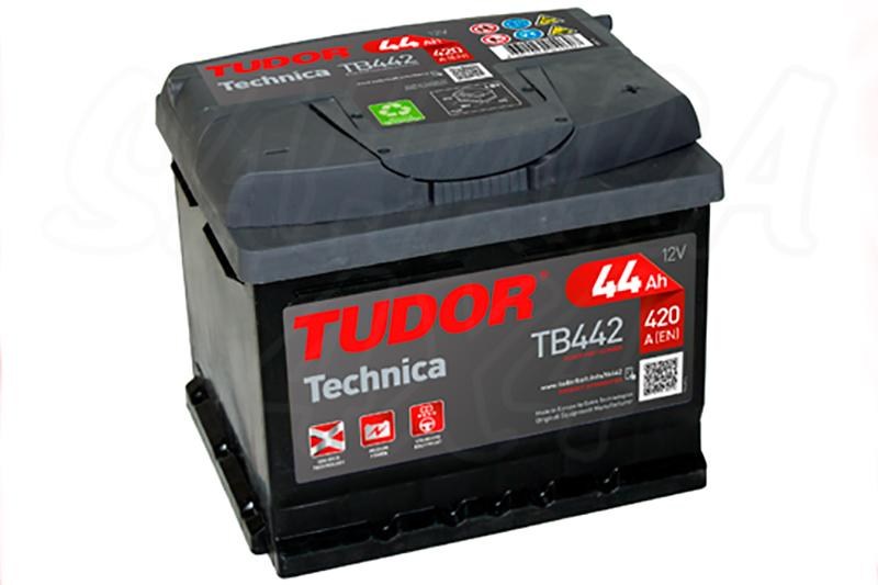 Bateria TUDOR Technica TB442 44 AH , Positivo Derecha - LONGITUD: 207 MM ANCHO: 175 MM ALTURA: 175 MM