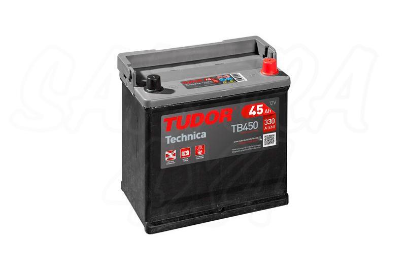 Bateria TUDOR Technica TB450 45 AH , Positivo Derecha - LONGITUD: 220 MM ANCHO: 135 MM ALTURA: 225 MM