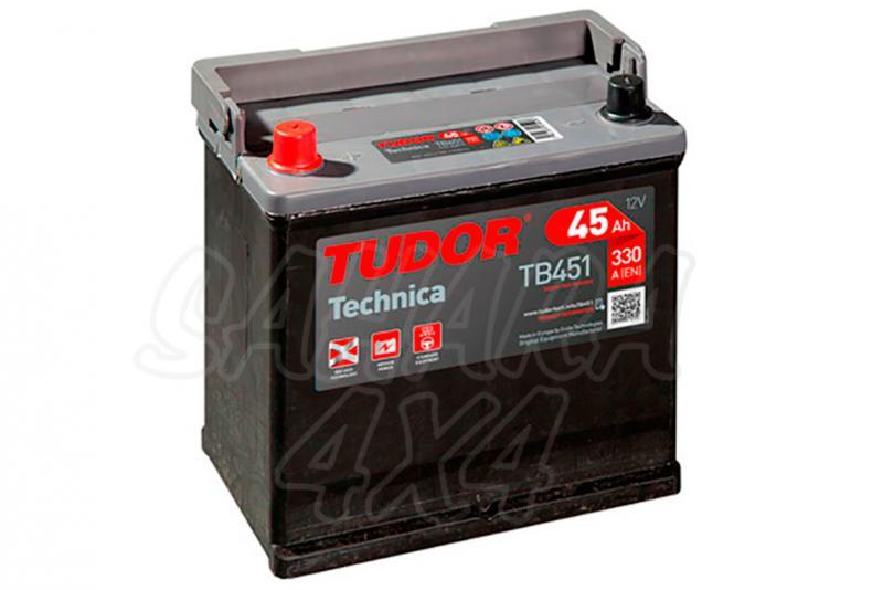 Bateria TUDOR Technica TB451 45 AH , Positivo Izquierda - LONGITUD: 220 MM ANCHO: 135 MM ALTURA: 225 MM