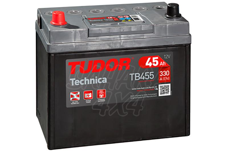 Bateria TUDOR Technica TB455 45 AH , Positivo Izquierda - LONGITUD: 237 MM ANCHO: 127 MM ALTURA: 227 MM