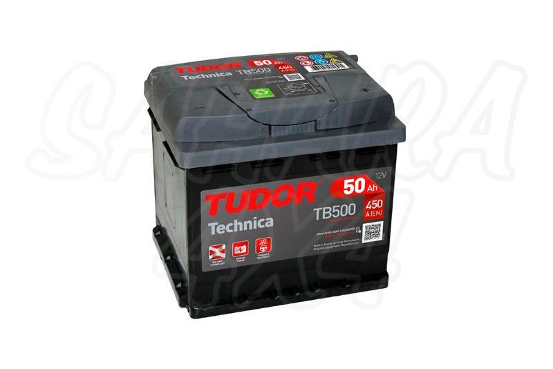 Bateria TUDOR Technica TB500 50 AH , Positivo Derecha - LONGITUD: 207 MM ANCHO: 175 MM ALTURA: 190 MM