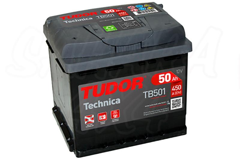 Bateria TUDOR Technica TB501 50 AH , Positivo Izquierda