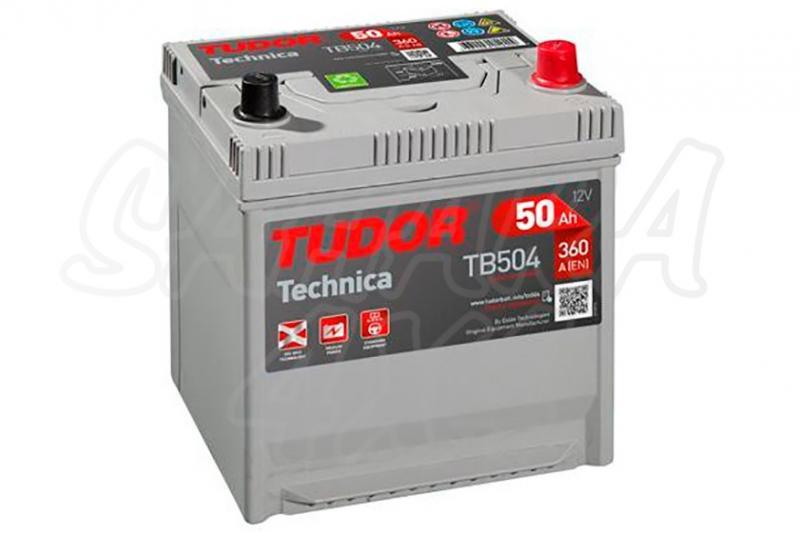 Bateria TUDOR Technica TB504 50 AH , Positivo Derecha - LONGITUD: 200 MM ANCHO: 173 MM ALTURA: 222 MM