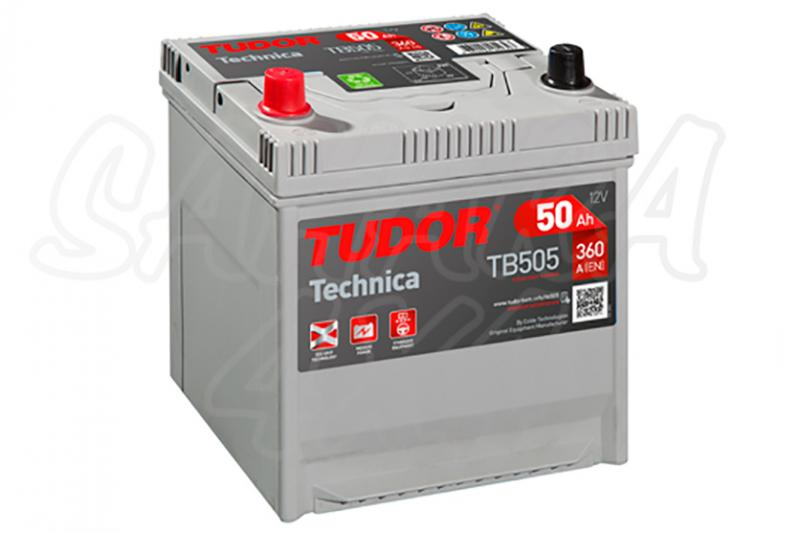 Bateria TUDOR Technica TB505 50 AH , Positivo Izquierda - LONGITUD: 200 MM ANCHO: 173 MM ALTURA: 222 MM