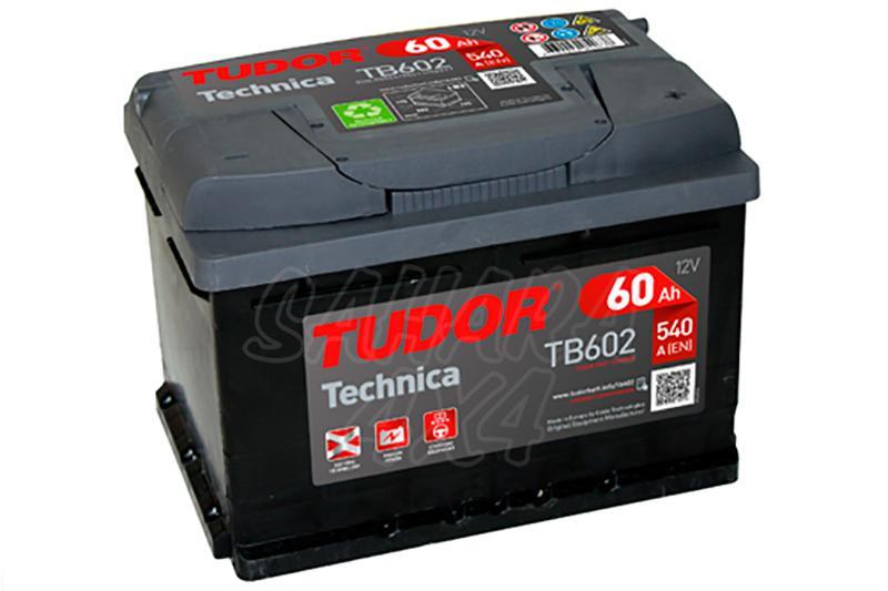 Bateria TUDOR Technica TB602 60 AH , Positivo Derecha - LONGITUD: 242 MM ANCHO: 175 MM ALTURA: 175 MM