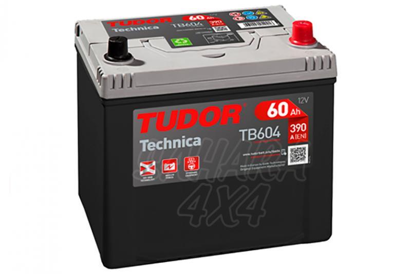 Bateria TUDOR Technica TB604 60 AH , Positivo Derecha - LONGITUD: 230 MM ANCHO: 173 MM ALTURA: 222 MM