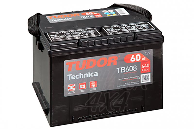 Bateria TUDOR Technica TB608 60 AH , Positivo Izquierda - LONGITUD: 230 MM ANCHO: 180 MM ALTURA: 186 MM