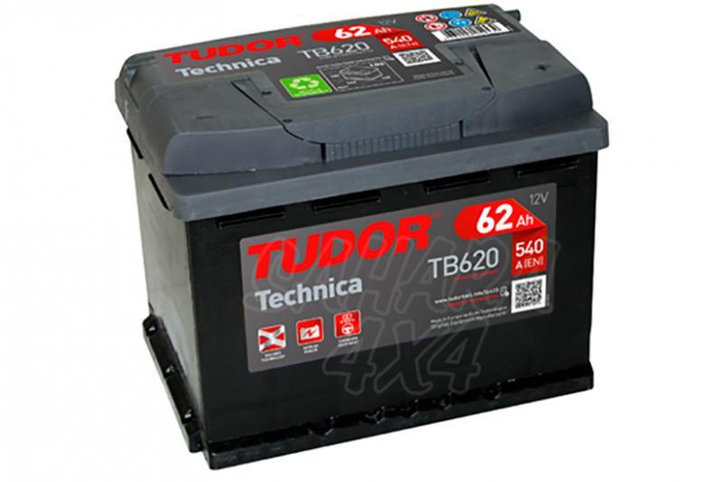 Bateria TUDOR Technica TB620 62 AH , Positivo Derecha - LONGITUD: 242 MM ANCHO: 175 MM ALTURA: 190 MM