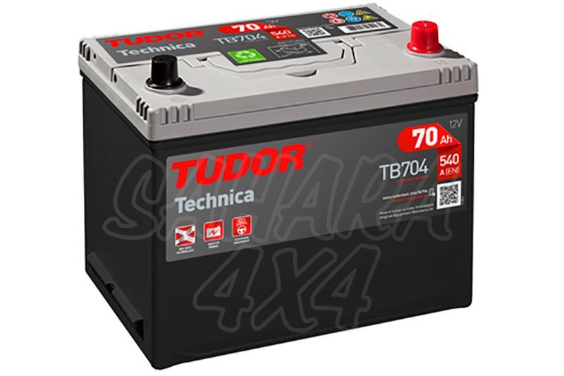 Bateria TUDOR Technica TB704 70 AH , Positivo Derecha - LONGITUD: 270 MM ANCHO: 173 MM ALTURA: 222 MM