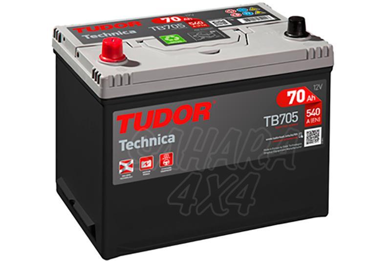 Bateria TUDOR Technica TB705 70 AH , Positivo Izquierda - LONGITUD: 270 MM ANCHO: 173 MM ALTURA: 222 MM