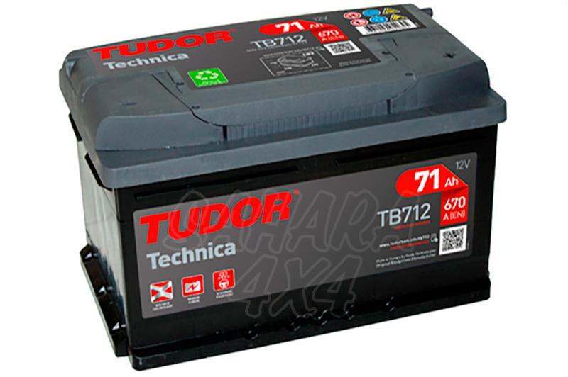 Bateria TUDOR Technica TB712 71 AH , Positivo Derecha - LONGITUD: 278 MM ANCHO: 175 MM ALTURA: 175 MM