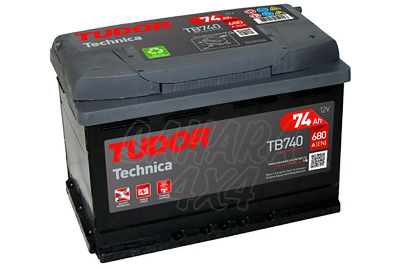 Bateria TUDOR Technica TB740 74 AH , Positivo Derecha - LONGITUD: 278 MM ANCHO: 175 MM ALTURA: 190 MM