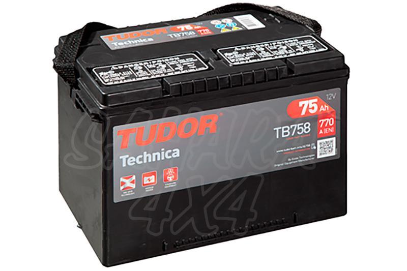 Bateria TUDOR Technica TB758 75 AH , Positivo Izquierda - LONGITUD: 260 MM ANCHO: 180 MM ALTURA: 186 MM