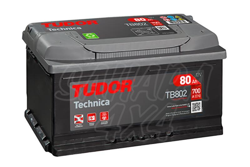 Bateria TUDOR Technica TB802 80 AH , Positivo Derecha - LONGITUD: 315 MM ANCHO: 175 MM ALTURA: 175 MM