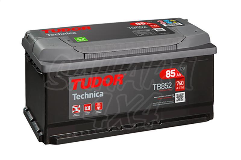 Bateria TUDOR Technica TB852 85 AH , Positivo Derecha - LONGITUD: 353 MM ANCHO: 175 MM ALTURA: 175 MM