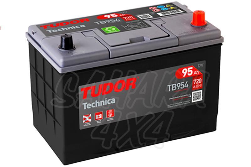 Bateria TUDOR Technica TB954 95 AH , Positivo Derecha - LONGITUD: 306 MM ANCHO: 173 MM ALTURA: 222 MM