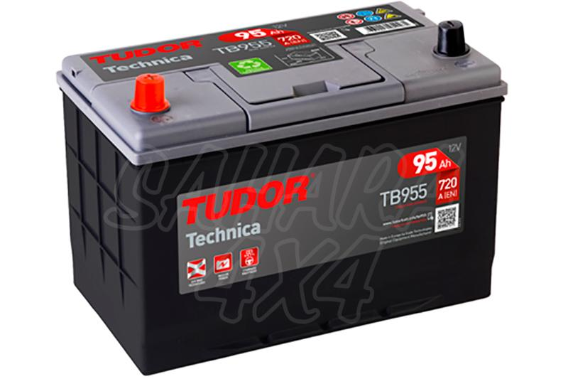 Bateria TUDOR Technica TB955 95 AH , Positivo Izquierda - LONGITUD: 306 MM ANCHO: 173 MM ALTURA: 222 MM