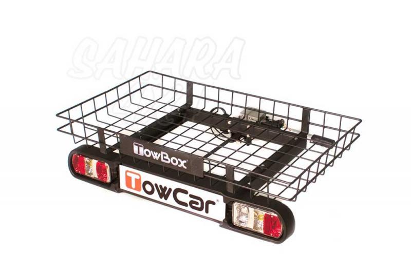 Portaequipajes TowBox Cargo - Es una plataforma multiusos colocada sobre la bola del enganche que permite transportar sin esfuerzo todo tipo de objetos como carritos de bebé, sillas de ruedas, maletas, etc.