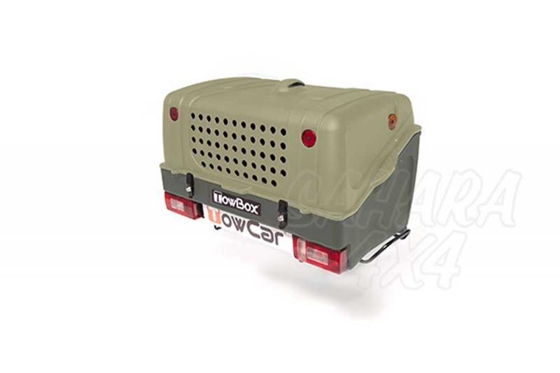 Portaperros TowBox V1 - TowBox V1 es un producto sin ruedas colocado sobre la bola de enganche y es la solución ideal para transportar a sus perros.