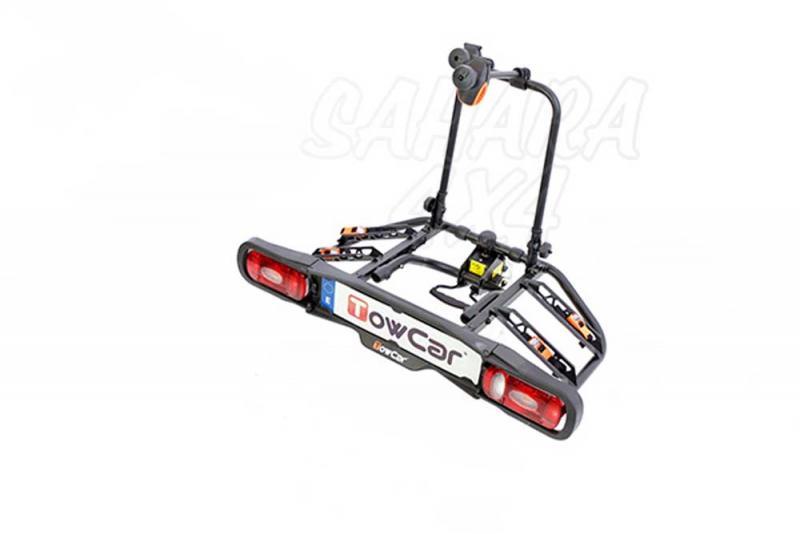 Portabicicletas sobre bola TowCar T2 - Portabicicletas para  dos bicis, abatible y con antirrobo, que se instala en unos segundos.