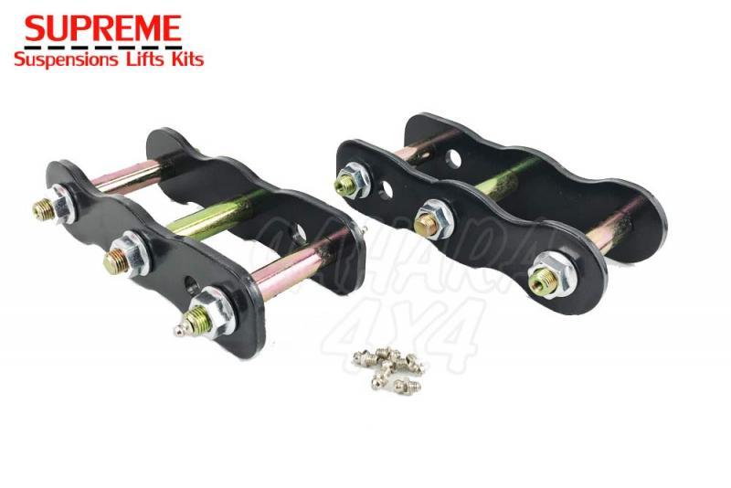Kit gemelas traseras +25/50 mm para Nissan Navara D22 - Pareja de gemelas