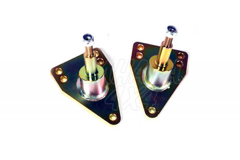 Kit de soportes para bajar Amortiguadores traseros - Pareja de soportes +50 mm