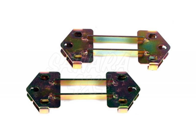 Kit de soportes para bajar topes de suspension traseros - Pareja de soportes + 25mm