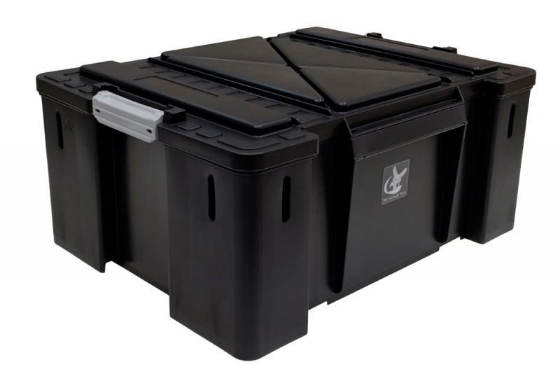 Caja de plastico Nomad Box tipo sudafricana, color negro