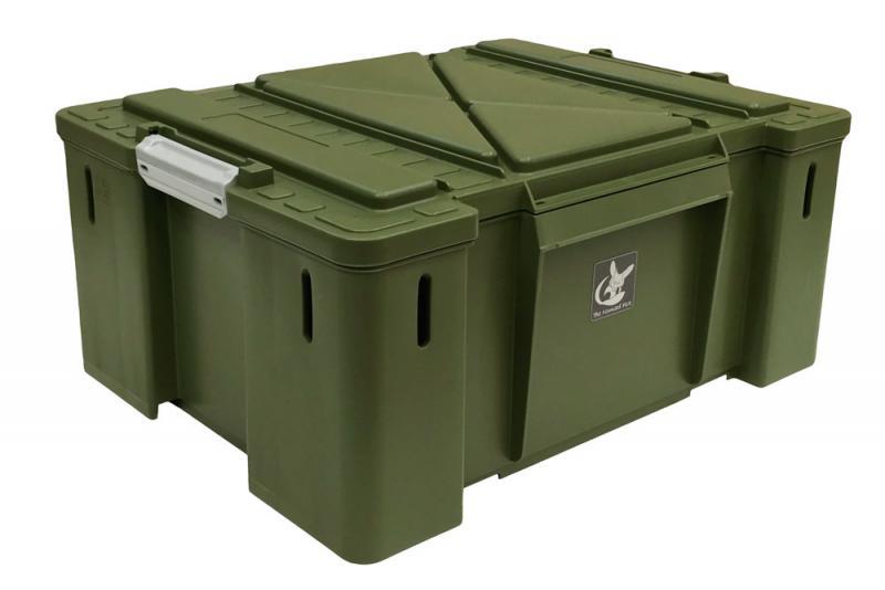 Caja de plastico Nomad Box tipo sudafricana, color verde