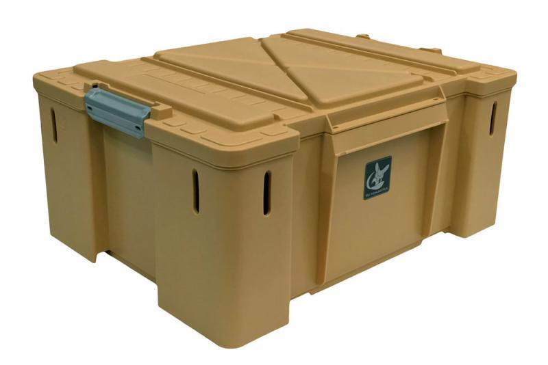Caja de plastico Nomad Box tipo sudafricana, color arena