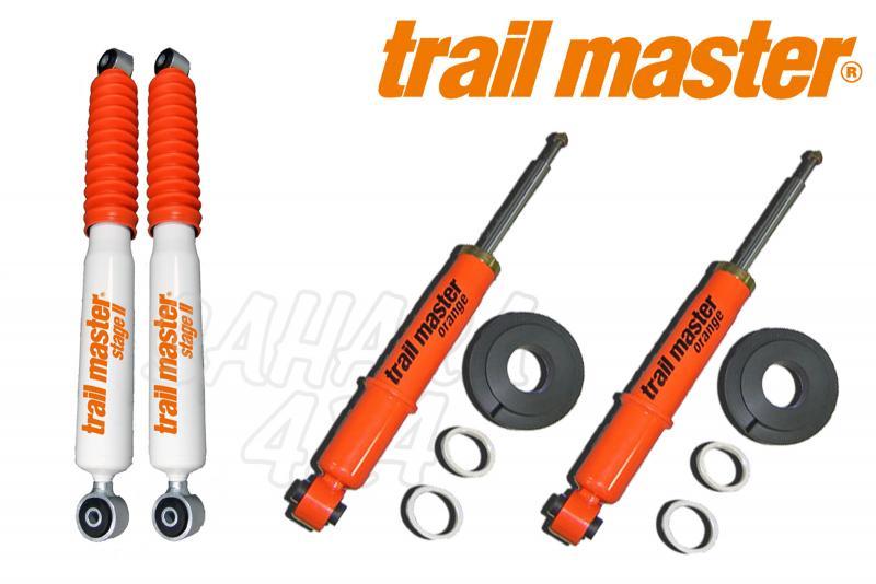 Kit 4 Amortiguadores Trail Master Stage II Navara D-40 - Kit Completo de 4 amortiguadores.