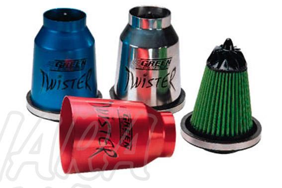 Filtro universal TWISTER ( Filtro deportivo + Carcasa aluminio ) - + Potencia / - consumo ¡¡ Recomendable para instalarlo con un snorquel!!