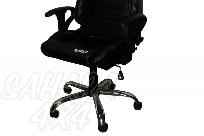 Base con ruedas Oficina para asiento deportivo - Ideal para montar con cualquier asiento deportivo sparco o similar.