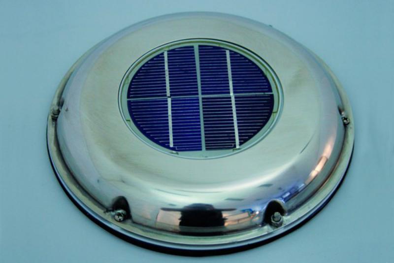 Ventilador solar con dos hélices intercambiables* e invertidas