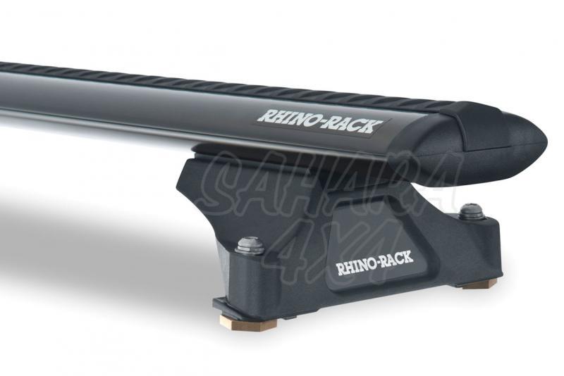 Barras Rhino Rack Vortex RLTP para Porsche Cayenne (2003-2010) - Kit de barras para techo, carga máxima 80Kg (por barra)