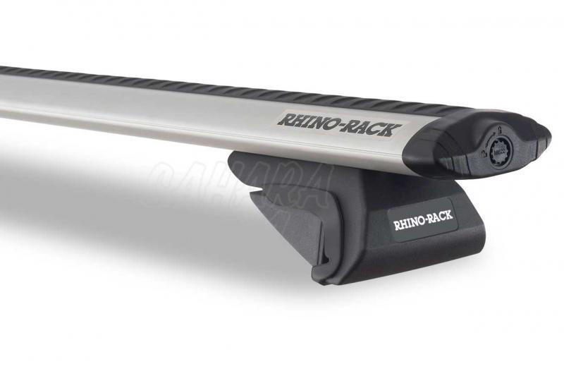 Barras Rhino Rack Vortex SX para Toyota FJ Cruiser - Kit de barras para railing, carga máxima 70Kg (por barra)