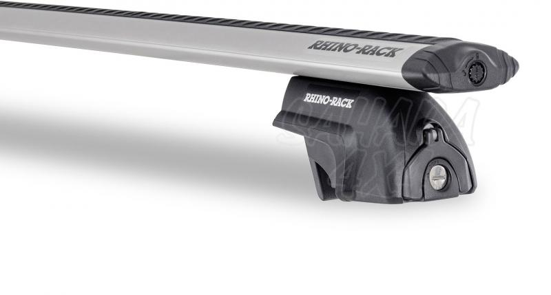 Barras Rhino Rack Vortex SX para Volvo XC60 - Kit de barras para Railing, carga máxima 80Kg (por barra)