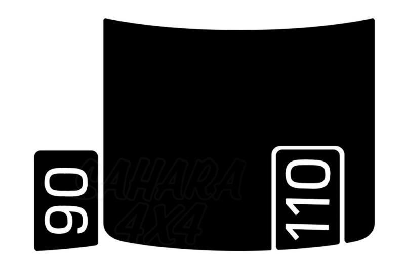Adhesivo negro para capó para Defender 2020