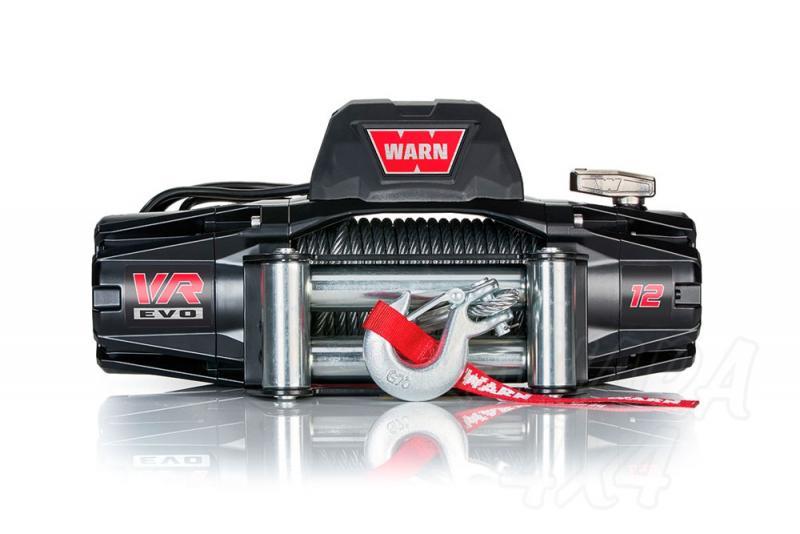 Cabrestante Warn VR EVO 12 12 v , cable de acero