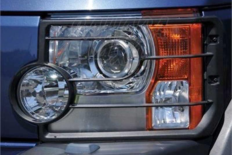 Protectores de faros delanteros en plastico Land Rover Discovery III