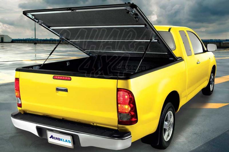 Toldo plano AEROKLAS de doble apertura (45º y enrollable) (extra cabina) para Mitsubishi L-200  - Para L-200 Triton 2006-2009 (Extra cabina)