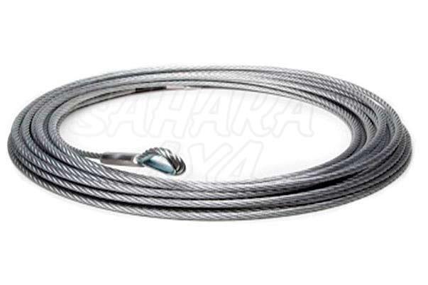 Cable de acero + gancho para warrior winch , varias medidas - Con gancho