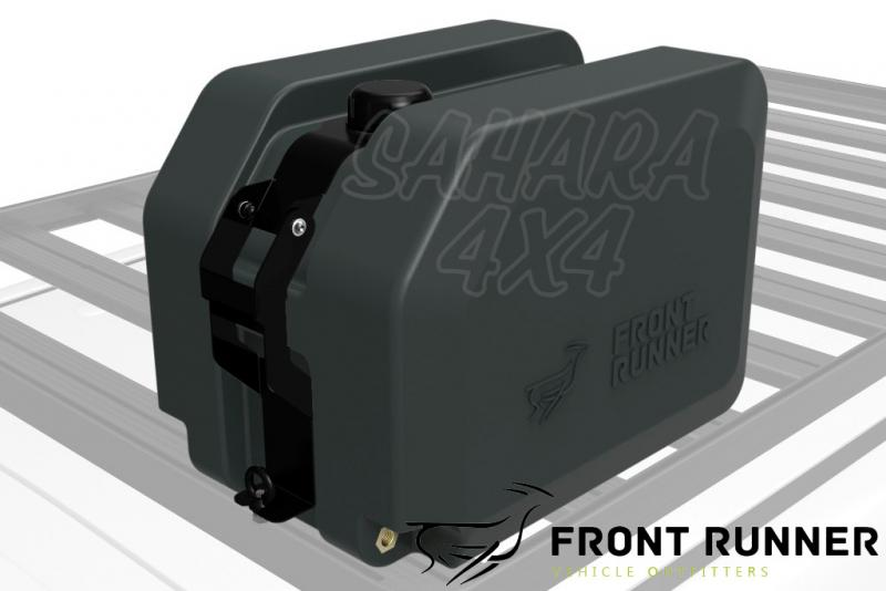 Tanque de Agua 45lts Front Runner - Valido para Bacas Front Runner, incluye soporte + manguera.