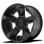 Llanta de aluminio 9x20 ET10 5x127/5x139.7 XD811 Rockstar II Black Dodge Ram 1500 - Unidad