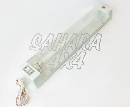 Fluorescente simple 12 v crema - Lampara de 12 v con interruptor