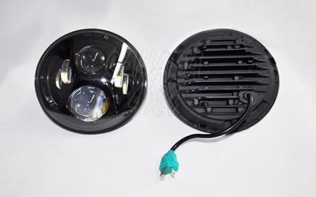 Faro LED Ø 18cm doble lupa (sin luz diurna) - No homologables. Adaptables a Suzuki samurai, SJ, Patrol GR Y60, Wrangler TJ, Wrangler JK, Montero hasta 1991, Toyota BJ 73.
