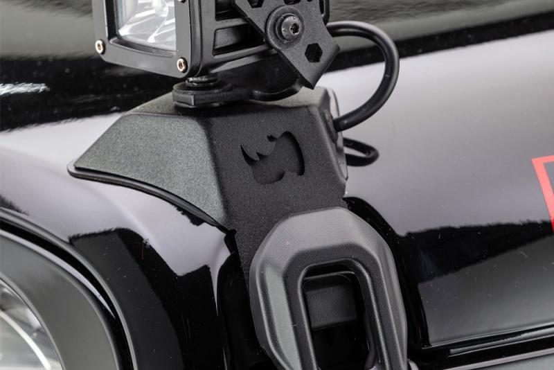 Soportes LED para cierre de capo Jeep Wrangler JL - Para faro de 3